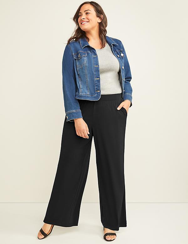 8b93aca3cf Wide-Leg Pant - Pull-On Matte Jersey