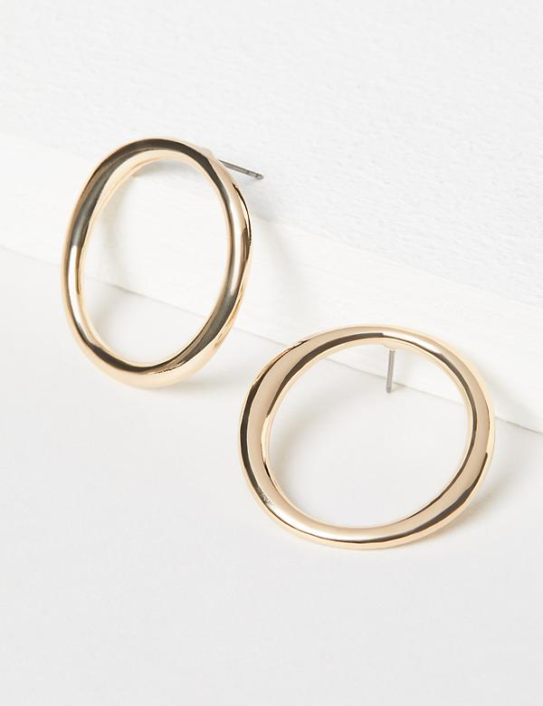 Open-Circle Stud Earrings