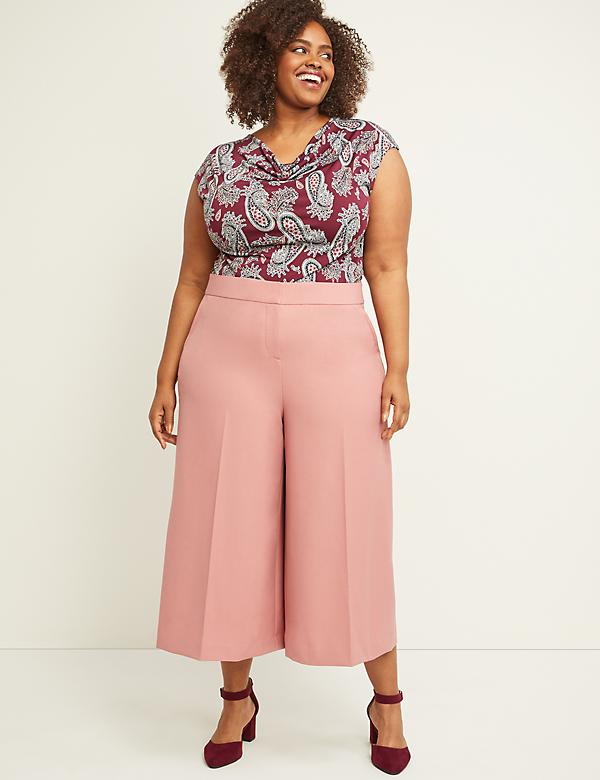 Allie Tailored Stretch Wide Leg Crop