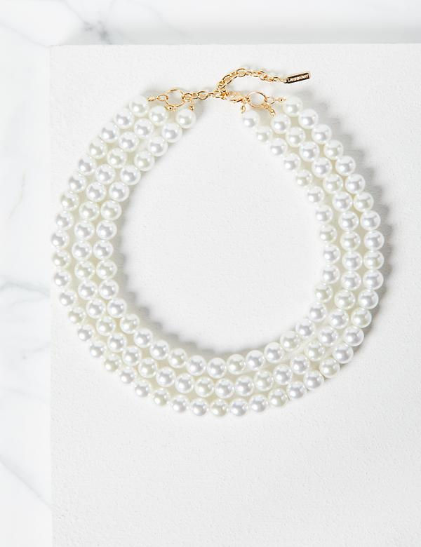 Multi-Strand Pearlescent Necklace