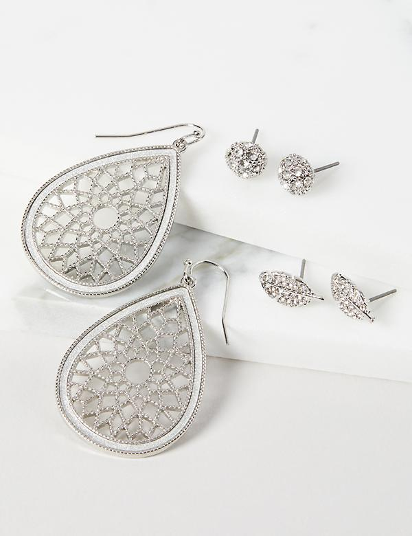 Earrings 3-Pack - Filigree and Studs