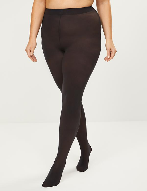Opaque Smoothing Tights - Sheer To Waist
