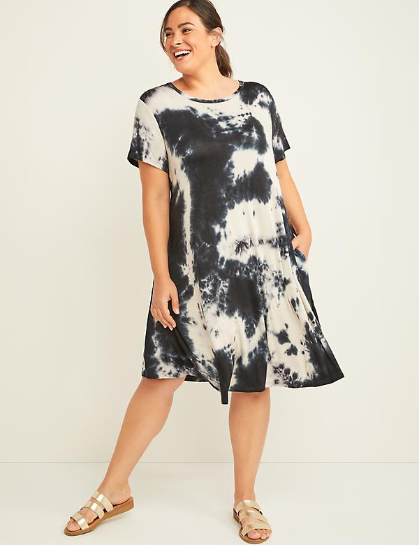 Tie-Dye Swing Dress