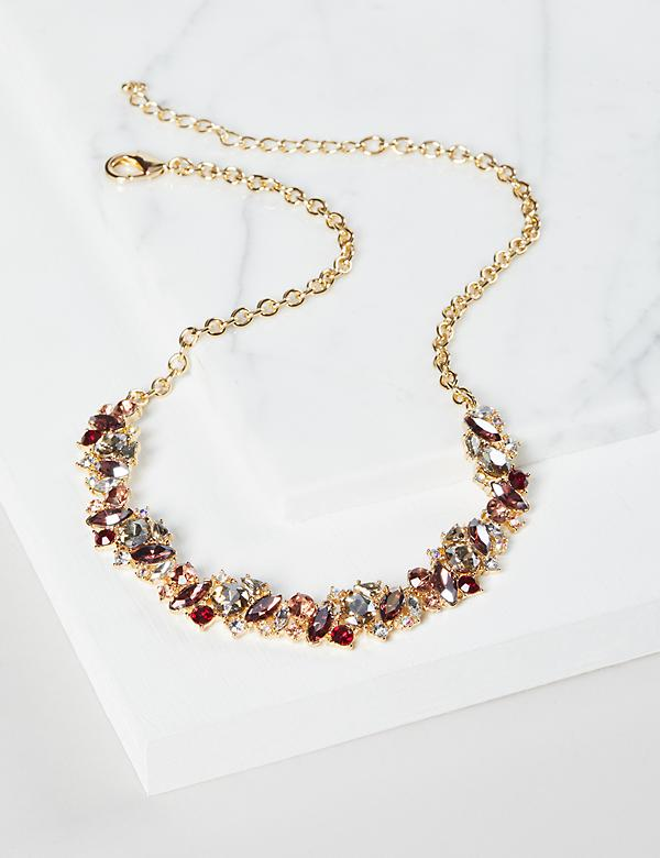 Clustered Stones Necklace