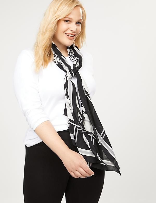 Floral Houndstooth Scarf