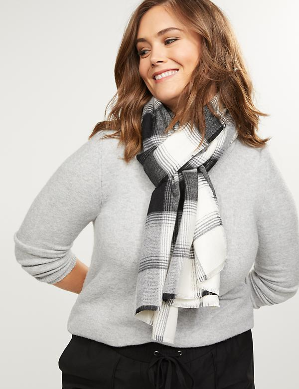 Black & White Plaid Scarf