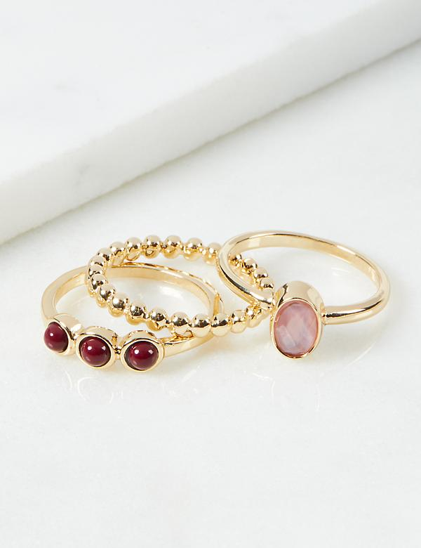Goldtone Stacking Rings 3-Pack