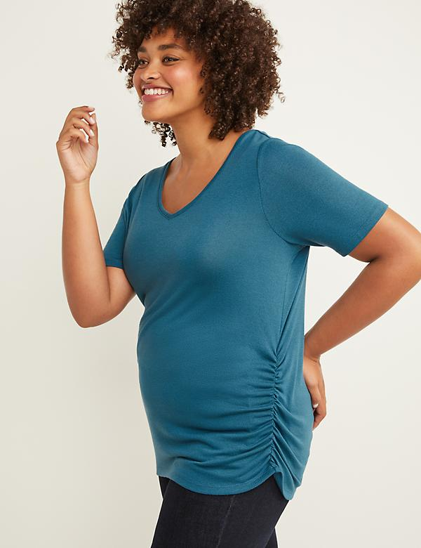 Softest Touch Perfect Sleeve Tee - Ruched Sides