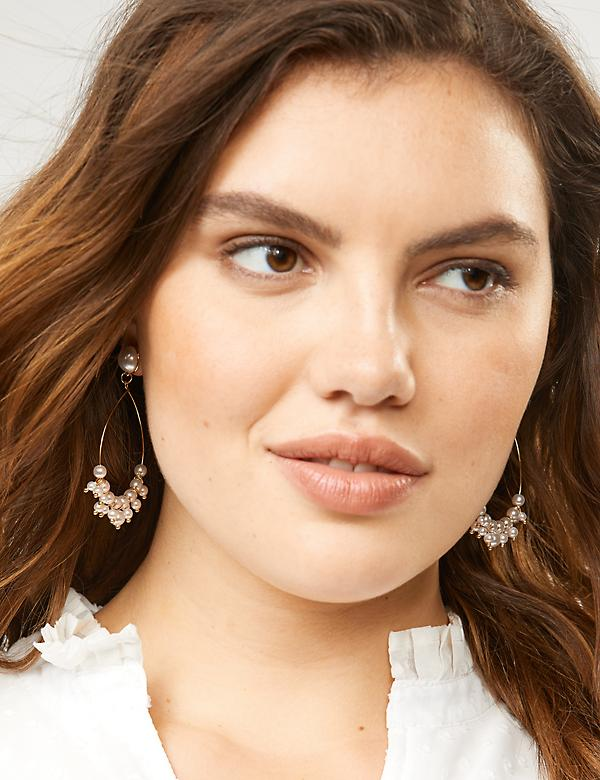 Pearlescent Cluster Teardrop Earrings