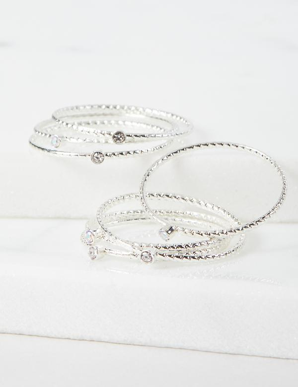 Stacked Pave Rings 7-Pack