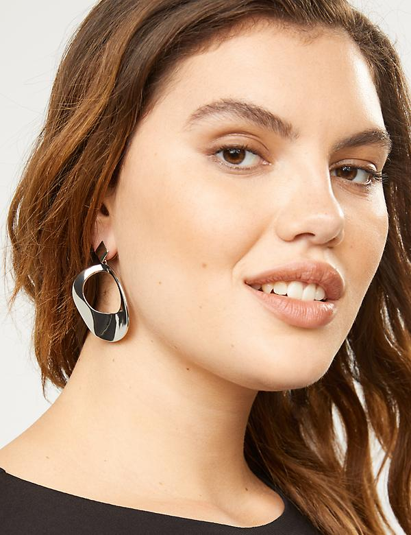 Open Sculptural Drop Earrings