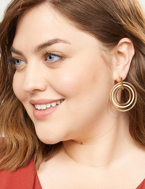 Triple Circle Drop Earrings