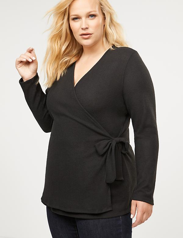 Softest Touch Faux-Wrap Top