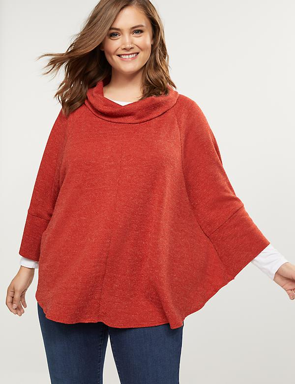 Softest Touch Cowl-Neck Poncho