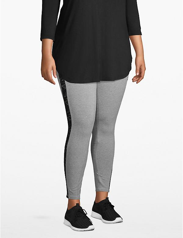 Active 7/8 Legging - Lace Inset