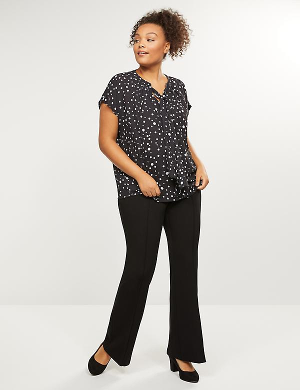 Allie Ponte Twill Flare Pant