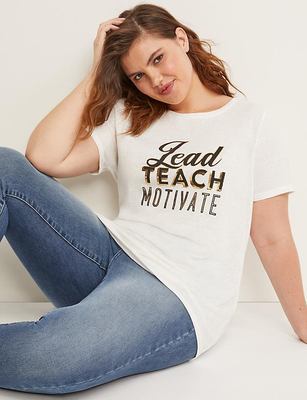 Lead Teach Motivate Graphic Tee