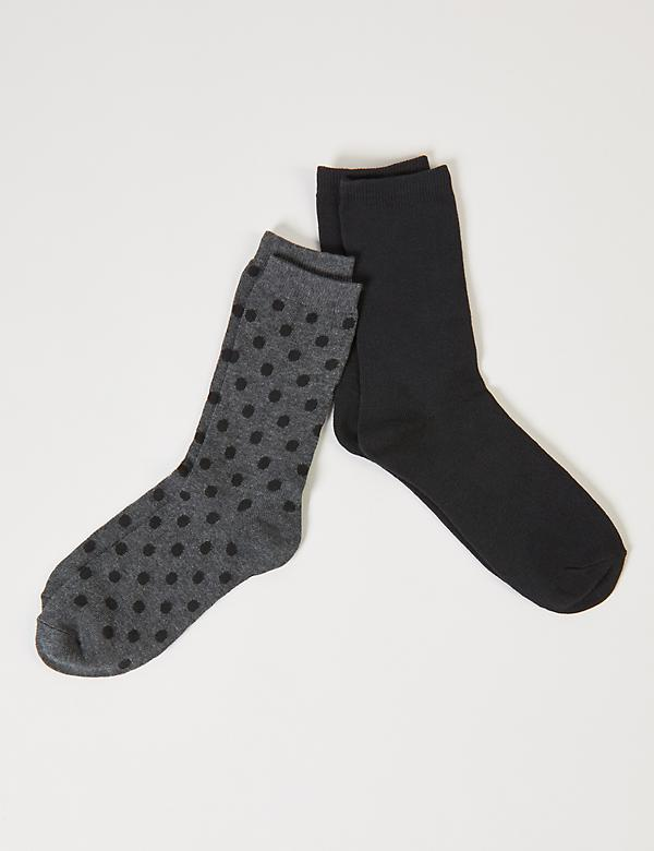 Dotted & Solid Crew Socks 2-Pack