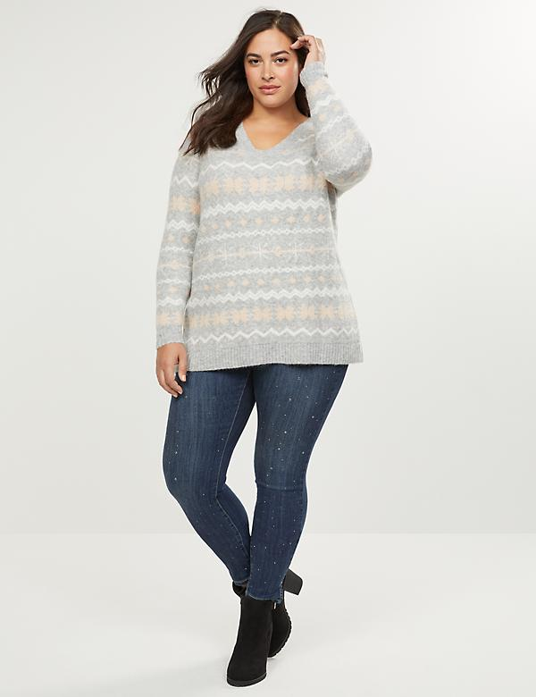 Fair Isle Sparkle Sweater