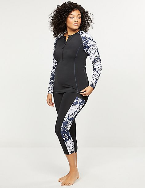 Cacique Sport Swim Capri Legging