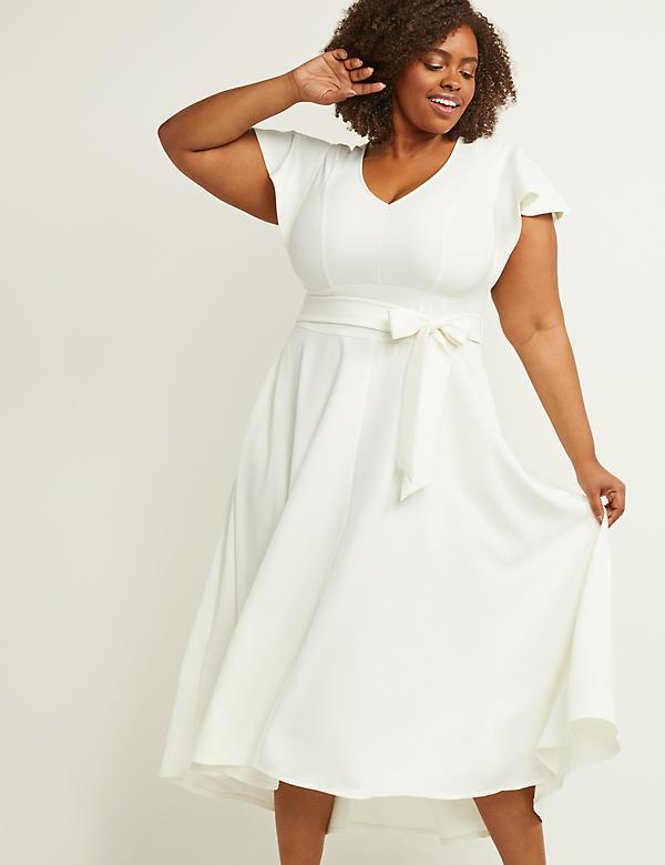 Metallic Red Ivory Pink White Plus Size Dresses | Lane Bryant