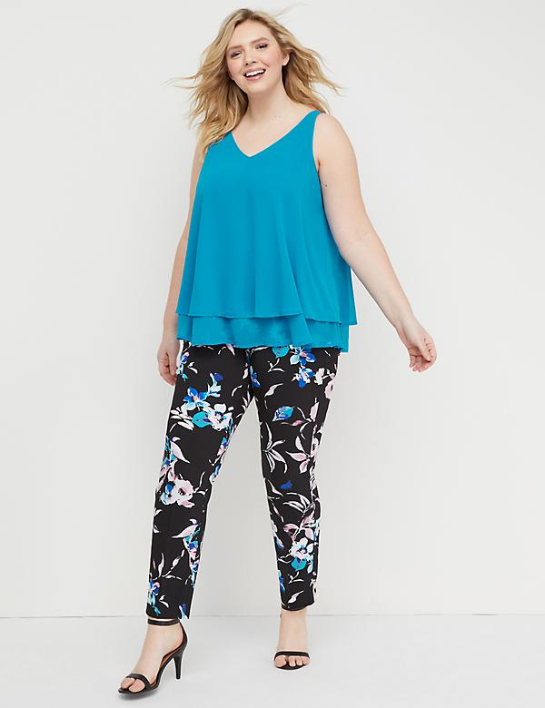 Power Pockets Allie Sexy Stretch Ankle Pant - Printed Pull-On