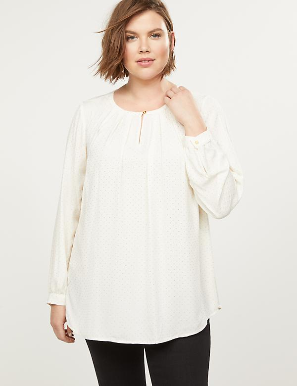 Sparkle Dot Keyhole Top