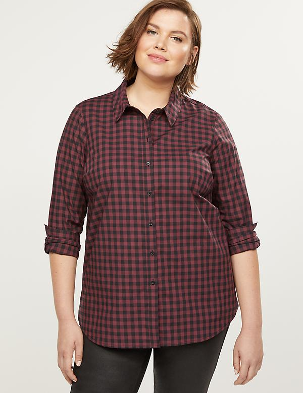 Plaid Poplin Girlfriend Shirt