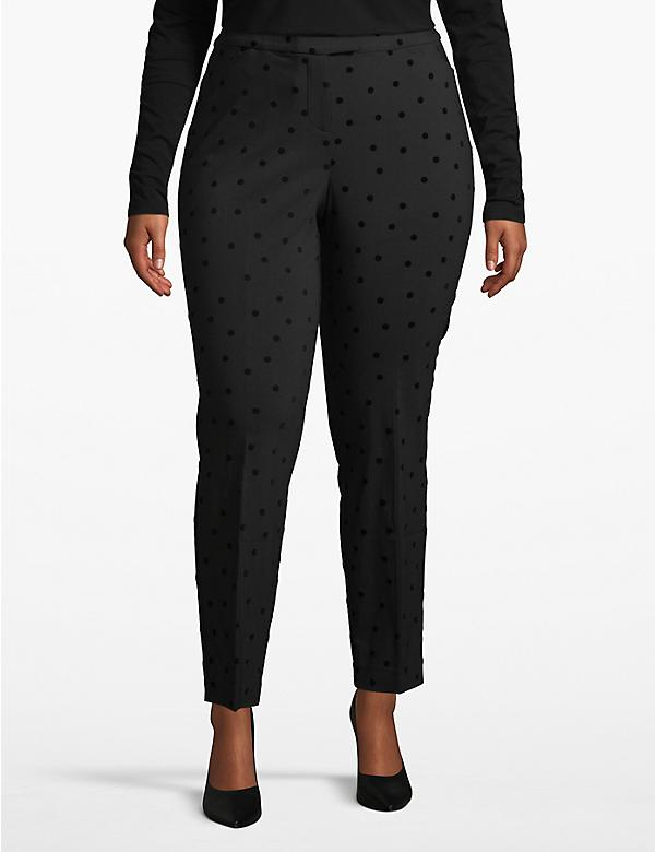 Madison Ankle Pant - Textured Dot