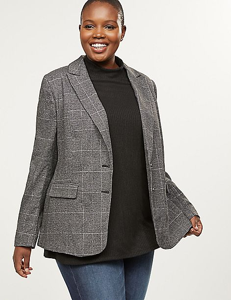 Bryant Blazer - Shimmer Plaid Tailored Stretch