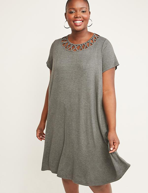 Black White Grey Plus Size Dresses | Lane Bryant