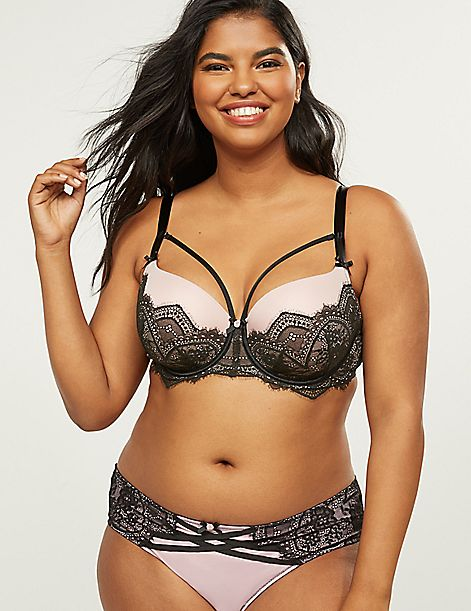Boost Balconette Bra With Scalloped Lace