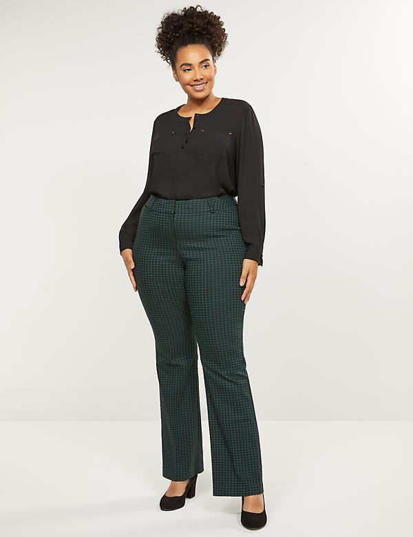 Curvy Allie Sexy Stretch Boot Pant - Houndstooth