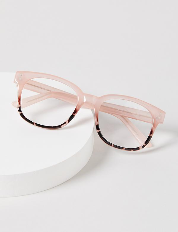 Blush Tortoise Print Reading Glasses