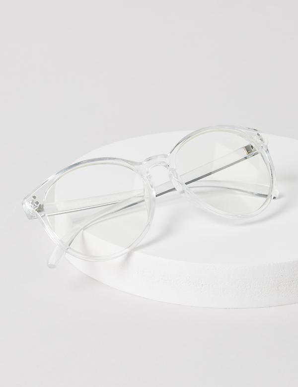 Clear Round Reading Glasses