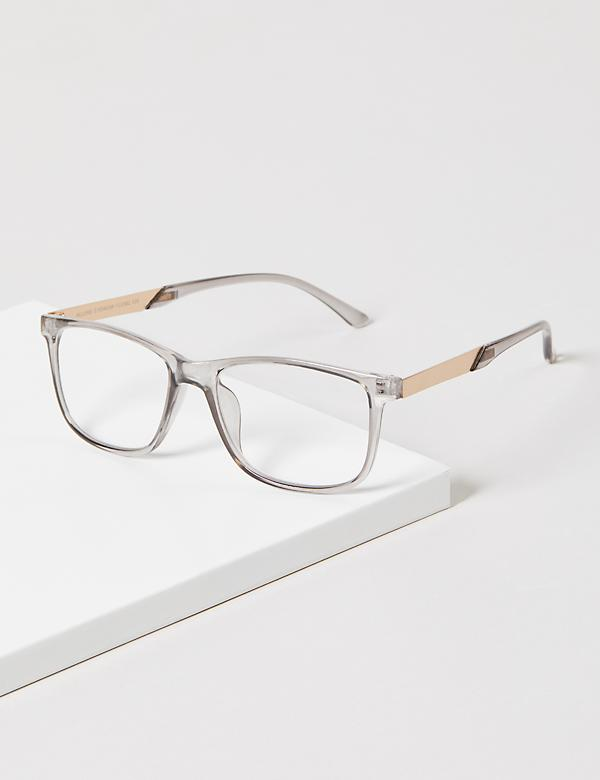 Grey Resin Rectangular Reading Glasses
