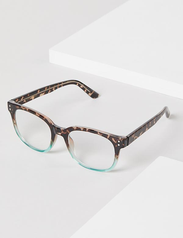 Blue & Tortoise Print Reading Glasses