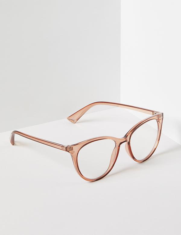 Blush Resin Cateye Reading Glasses