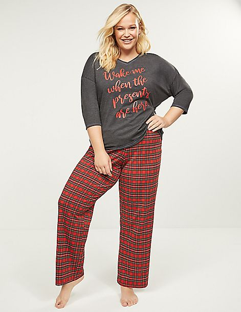 Graphic Tee & Pant PJ Set