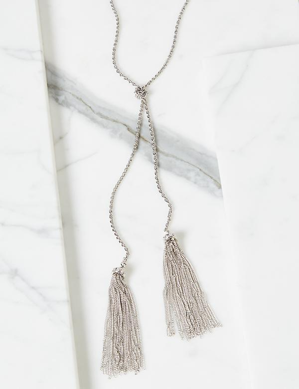 Knotted Tassel Necklace