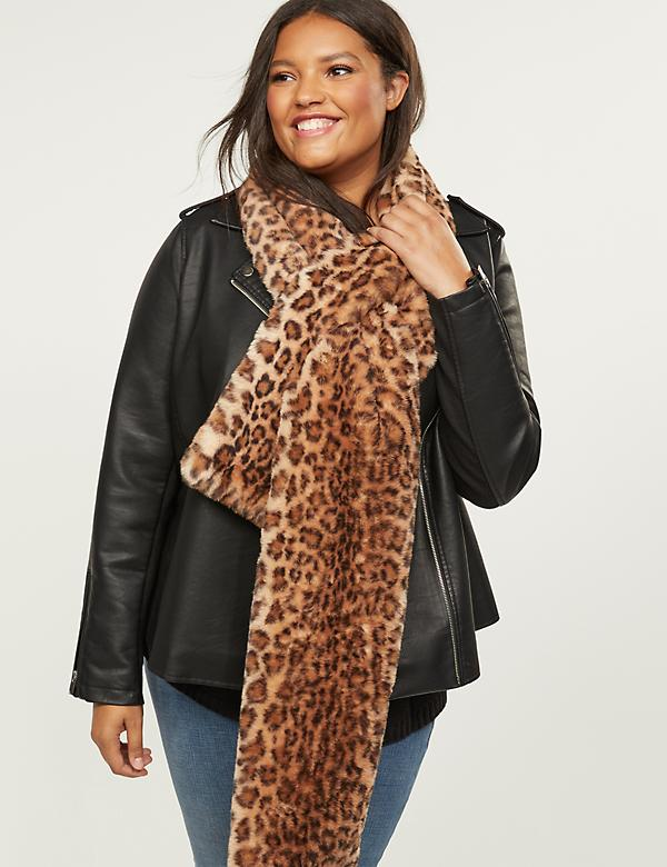 Leopard Print Pull-Through Scarf