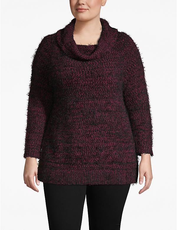 Fuzzy Cowlneck Sweater