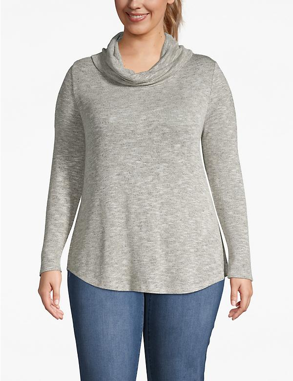 Cozy Touch Shimmer Cowlneck Top