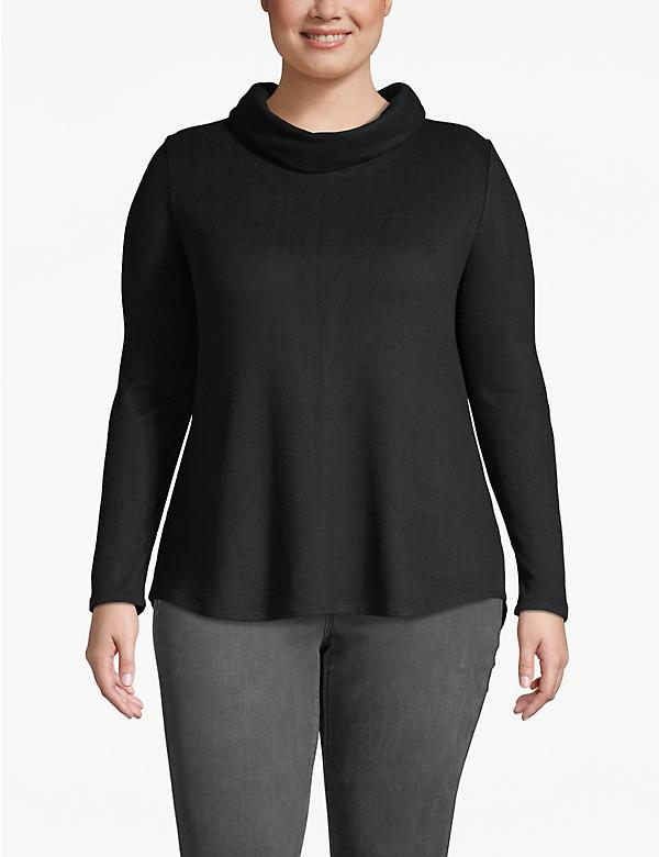 Cozy Touch Cowlneck High-Low Top