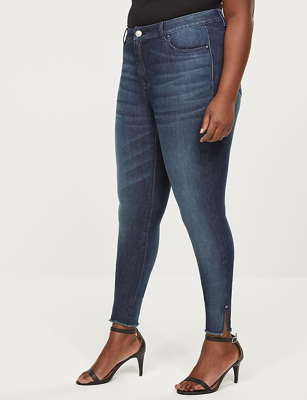 High-Rise Skinny Jean - Split Raw Hem