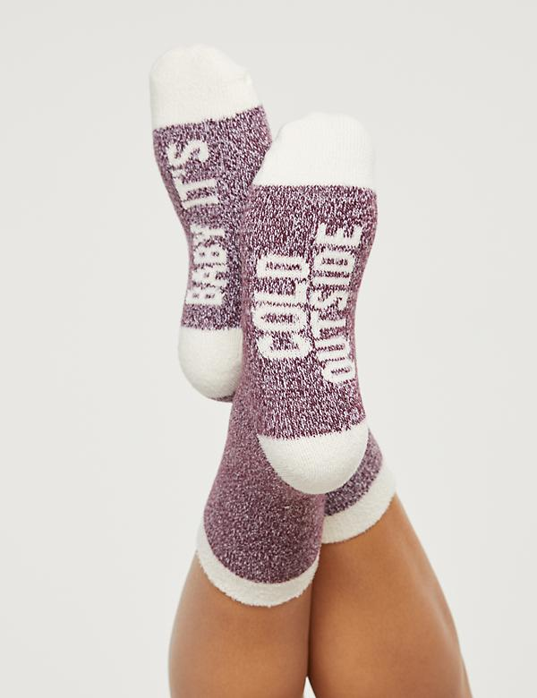 Baby It's Cold Outside Cozy Socks