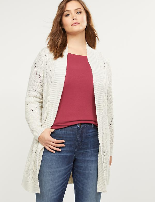 Mixed-Stitch Sweater Overpiece