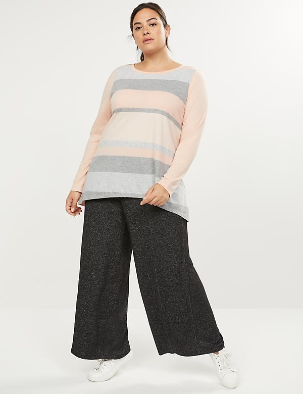 LIVI Active Striped High-Low Tunic