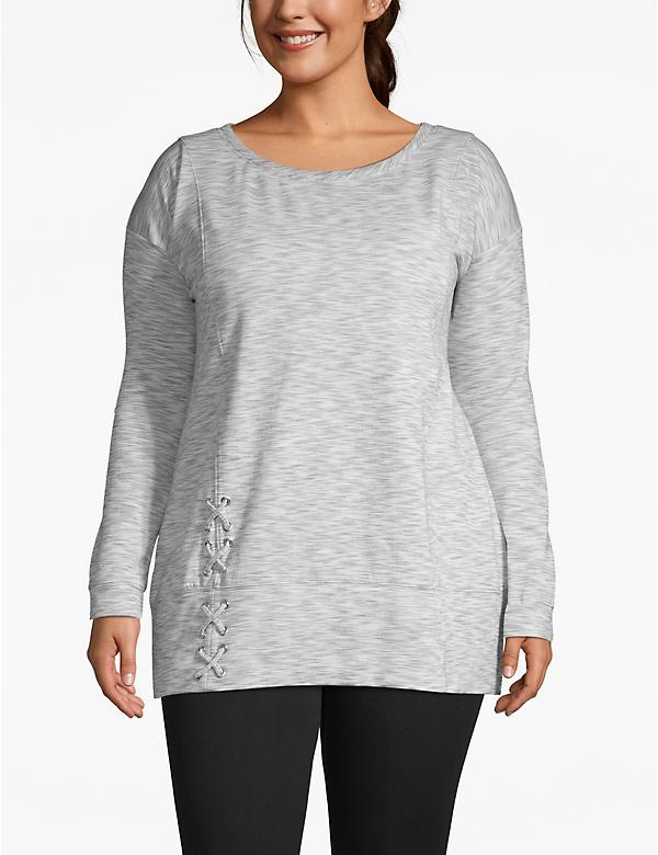 Active Lace-Up Hem Sweatshirt