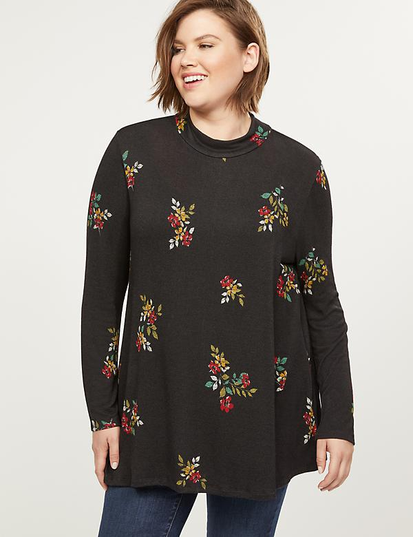 Softest Touch Mock-Neck Swing Tunic